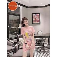 Bộ quần áo nữ cotton đũi họa tiết siêu hột 2021-B01 thumbnail