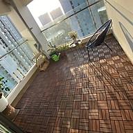 Vỉ Sàn Gỗ Tự Nhiên Ngoài Trời 12 nan kích thước 30x30x2.5cm sơn 3 lớp PU thumbnail
