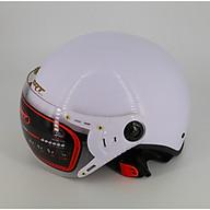 Mũ bảo hiểm nửa đầu có kính càng SRT A33K - lồng ép nhiệt - kính UV thumbnail