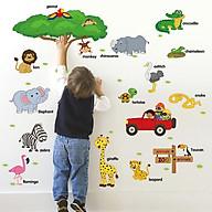 Decal dán tường từ tiếng anh về loài vật cho bé ZOOYOO SK9084-kiddecals thumbnail