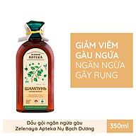 Dầu gội Zelenaya Apteka ngăn ngừa gàu Nụ bạch dương và dầu thầu dầu 350ml thumbnail