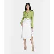 HNOSS Váy midi xẻ tà 65% Coton 35% Polyester CMS12012033 thumbnail