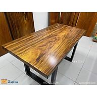 Bàn ăn gỗ me tây nguyên tấm dài 1,4m x rộng 72cm x dầy 5cm thumbnail