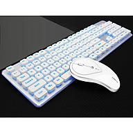 Bộ bàn phím và chuột không dây LT600- Hàng Nhập Khẩu - Trắng thumbnail
