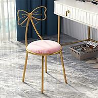 Ghế bàn trang điểm hồng trắng (kt 80x38cm) thumbnail