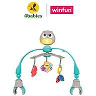 Đồ chơi treo nôi cũi, xe đẩy nhạc trắng ru ngủ, chiếu đèn cú mèo xinh xắn WINFUN 0865 - kích thích phát triển thị giác - BPA free thumbnail