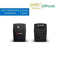 Bộ lưu điện UPS CyberPower 600VA 360W cho PC hệ thống NAS SYNOLOGY VÀ BUFFALO VALUE600E - Hàng Nhập Khẩu thumbnail