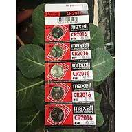 Pin CR2016 Maxell Lithium 3V vỉ 5 viên thumbnail