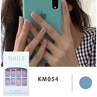 Bộ 24 móng tay giả đẹp (KM054) tặng kèm thun lò xo cột tóc màu đen tiện lợi thumbnail