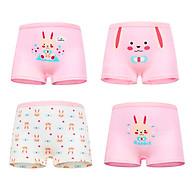 Set 4 quần chip đùi cho bé gái 2-12 tuổi chất cotton mềm mại co giãn tốt họa tiết theo chủ đề đủ màu sắc đáng yêu - C015 thumbnail
