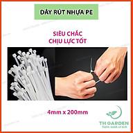 100 Dây Rút Nhựa, Lạt Thít Nhựa TH Garden - Dây Thít Dài 20cm - Lạt Nhựa Dẻo Dai Siêu Chắc, Siêu Bền - Dây Buộc Đồ Rất Chắc Chắn thumbnail