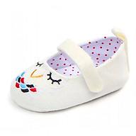 Giày tập đi thêu hình con cú có quai cài cho bé gái TD9 thumbnail