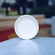 Dĩa giấy trắng 16cm - 50 cái thumbnail