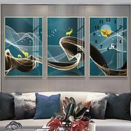 Tranh treo tường, tranh đồng hồ NT184 bộ 3 tấm ghép thumbnail