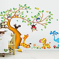 decal dán tường cho bé thú hoạt hình và cây ngộ nghĩnh ay242 thumbnail