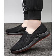 Giày Lười Slip-On Nam Vải Mềm Khoét Lỗ Êm Thiết Kế Nam Tính - 3156 - Mới thumbnail