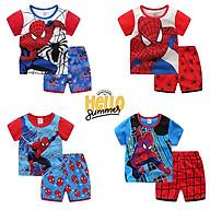 Bộ người nhện cho bé LITTLE BUDDY bộ quần áo trẻ em họa tiết Spider Man chất cotton thumbnail