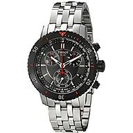 Tissot Men s T067.417.21.051.00 T-Sport Textured Dial Stainless Steel Watch thumbnail