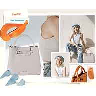 Túi công sở nữ - túi đeo chéo - Sang xịn - Màu xanh xám size lớn thumbnail