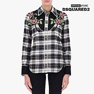 DSQUARED2 - Áo sơ mi nữ ca rô thêu hoa Western S72DL0582-002F thumbnail