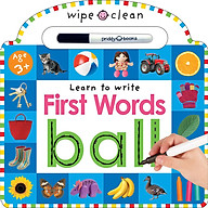 Wipe Clean Learn to Write First Words (Priddy Books) (Board book) thumbnail