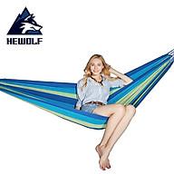 Võng ngủ du lịch võng dù lưới võng vải dù ngủ ngoài trời, du lịch dã ngoại phượt Hewolf hàng chính hãng - màu xanh - 200 100cm thumbnail