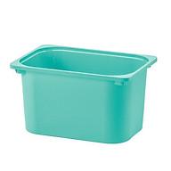 Hộc nhựa màu xanh ngọc 42 x 30 x23cm- hộc chưá đồ thumbnail