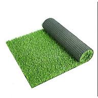 Thảm cỏ nhựa nhân tạo sợi cỏ dài 1cm trang trí sự kiện, tiểu cảnh sân vườn loại cao cấp không độc hại, bền, đẹp khổ 2m thumbnail