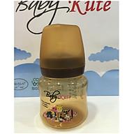 Bình sữa bằng nhựa PP Baby Kute cổ rộng 140ML chống sặc nhập khẩu từ Thái Lan thumbnail