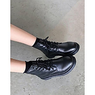 Giày Boots Da Cổ Cao Đen Unisex Siêu Chất thumbnail