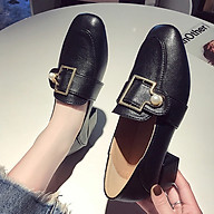 [CHẤT LƯỢNG] Giày loafer nữ đế vuông khóa châu 4 phân S040 mũi vuông, êm chân, chắc chắn, chống trượt thumbnail