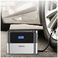 Máy bơm lốp xe ô tô di động A03 đồng hồ điện tử ( KIÊM ĐO ÁP SUẤT LỐP, ĐÈN PIN, SẠC DỰ PHÒNG ) thumbnail