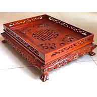 Khay trà đục rồng gỗ hương loại nhỏ hàng cao cấp thumbnail