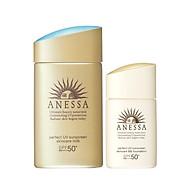 Bộ đôi Kem chống nắng dưỡng da dạng sữa bảo vệ hoàn hảo Anessa Perfect UV Sunscreen Skincare Milk SPF 50+ PA++++ 60ml + Kem nền trang điểm BB chống nắng dươ ng da Anessa SPF 50+ PA++++ 25ml thumbnail