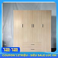 Tủ quần áo nhựa Đài Loan cao cấp - VTN - 4 cánh dài 1m65 cao 1m85 thumbnail