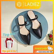 Dép Sục Nữ Đẹp Thời Trang Cao Cấp Ladiez , Giày Sục Mũi Nhọn 2 Phân Da Mềm Êm Chân Đế Vuông Xinh Xắn Siêu Đẹp thumbnail