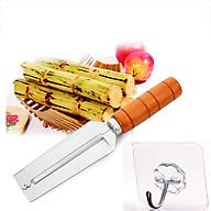 Dao 2 Lưỡi Gọt Củ Quả Cán Gỗ Bền tặng kèm móc nhà bếp PKS thumbnail