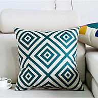 vỏ gối tựa lưng vải bố họa tiết hình học sbk9170 thumbnail