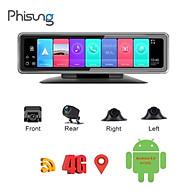 Camera hành trình 360 độ gắn gương và taplo ô tô cao cấp Phisung T88 đa năng 5 trong 1 Android 9.0 - Hàng chính hãng thumbnail