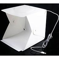 Hộp studio mini chụp sản phẩm tích hợp đèn Led vòng 72 bóng và 4 phông nền thumbnail