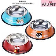 Bát ăn inox - Bát ăn cho chó mèo thú cưng (màu ngẫu nhiên) thumbnail