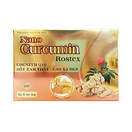 Viên uống hỗ trợ dạ dày tá tràng Nano Cucurmin Rostex thành phần bột tam thất và cao xạ đen hộp 30 viên thumbnail