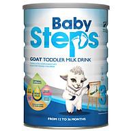 Sữa Dê Công thức Baby Steps Goat Toddler Milk Drink số 3 900gr thumbnail