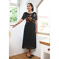 Đầm trung niên bigsize - Đầm xòe A voan hoa tay ren TIFALU900 thumbnail