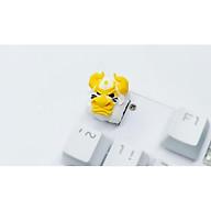 Keycap bò Bull Clone tone trắng vàng trang trí bàn phím cơ gaming thumbnail