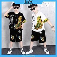 Set Đồ Bé Trai phong cách hàn quốc, chất thun cotton mát mịn thấm hút mồ hôi, thời trang trẻ em thương hiệu BAW mã 143-144 thumbnail