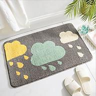 Thảm lau chân TC01 chất liệu len thấm hút nước tốt êm ái trang trí không gian phòng thumbnail