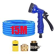 Bộ dây và vòi xịt tăng áp lực nước,rửa xe, tưới cây 15m (cút nhựa nối đồng nhựa) 206843 thumbnail