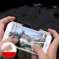 Bộ 2 Nút Bấm Chơi Game PUBG, ROS Dòng Nút Bấm 2 Chốt T10 Cảm Ứng Trắng Trên Điện Thoại thumbnail