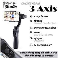 Tay cầm chống rung Gimbal 3 Axis Handheld - Gậy gimbal đa năng cho điện thoại adroid, IOS - 3 trục xoay, kết nối bluetooth, zoom xa gần ngay trên gậy - Tích hợp cổng USB sạc pin cho điện thoại - Hàng chính hãng thumbnail